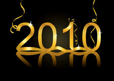 2010 New Year vector. New Year's eve  decoration for 2010 Royalty Free Stock Photography