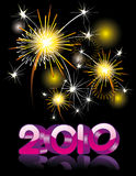 2010 new year vector. 2010 new year  illustration over a black background Stock Images