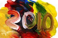 2010, nieuw jaar Stock Afbeelding