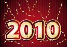 2010 Nieuwe jaar feestelijke illustratie Stock Afbeelding