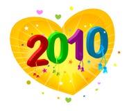 2010 nuovi anni illustrazione di stock