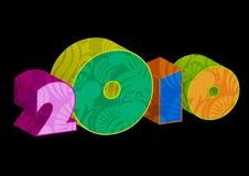2010 nuovi anni royalty illustrazione gratis