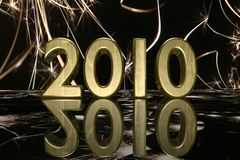 2010 nuovi anni Fotografia Stock Libera da Diritti