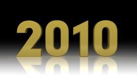 2010 nuovi anni Fotografie Stock Libere da Diritti