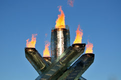 2010 Olympic torch Stock Photography