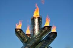 2010 Olympische toorts Stock Fotografie