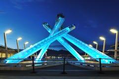 2010 olympischer großer Kessel Vancouver Stockbild