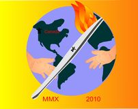 2010 olympiska spel som över hela världen delar Arkivbilder