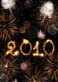 2010 ont effectué des étincelles Photos stock