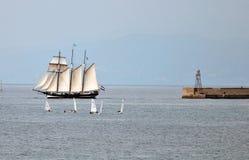 2010年oosterschelde赛船会船发运高 免版税库存照片
