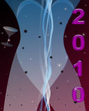2010 Party Lady. New Years Eve celebration party Stock Illustration