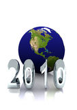 2010 Report Cover. A year 2010 with world globe for annual report cover. A4 format vector illustration