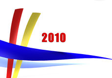2010 in Ribbons - 3D image. 2010 is coming styled with 3D ribbons in various colors Stock Photography