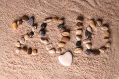 2010 in sand Royalty Free Stock Photography
