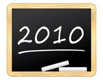 2010 scritto su una lavagna piacevole Fotografia Stock Libera da Diritti
