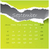 2010 september. 2010 calendar with september month Royalty Free Stock Photo