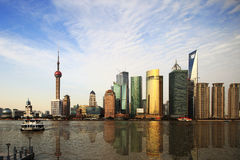 2010 shanghai expo skyline Stock Photography