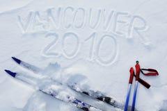 2010 skidar vancouver Arkivfoton