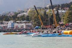 2010 storslagna prix yalta för powerboat p1 royaltyfri fotografi