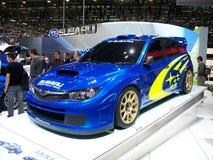2010 Subaru Impreza WRC. 2010 version of the Subaru Impreza WRC shown at the Geneva autoexpo Royalty Free Stock Image