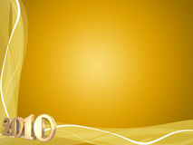 2010 Swirls. 3D 2010 in gold a with decorative swirl frame Royalty Free Stock Photo