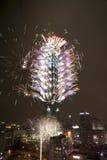 2010 Taipeh 101 Vuurwerk Stock Afbeeldingen