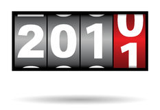 2010 to 2011 year. Counter of 2010 to 2011 change of year Royalty Free Illustration