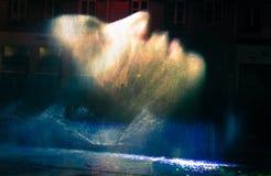 2010 twarzy festiwalu świateł Lyon mgła Zdjęcia Stock