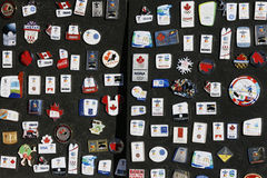 2010 Vancouver Olympics Collector Pins stock photos