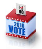 2010 Vote NO!. Digital illustration concept of voting NO in 2010 Royalty Free Stock Images