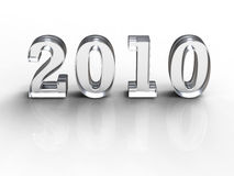 2010 on white Royalty Free Stock Image