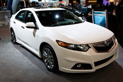 2010 White Acura TSX at the Toronto Auto Show Stock Photos