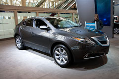 2010 White Acura ZDX at the Toronto Auto Show Stock Image