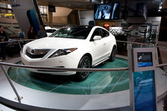 2010 White Acura ZDX at the Toronto Auto Show Stock Photos