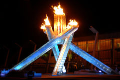 2010 Winter Olympics Cauldron Stock Photos