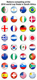 2010 world cup button badges Royalty Free Stock Images