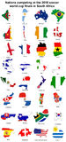 2010 world cup flag maps. All of the nations competing at the 2010 FIFA world cup finals in south africa Royalty Free Stock Photos