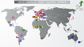 2010 World Cup South Africa. All countries stock illustration