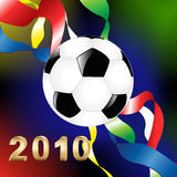 2010 World Cup. Vector. Football Or Soccer Ball And Tapes, World championship of Southern Africa 2010 stock illustration