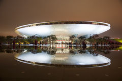2010 world expo. Night view of 2010 Shanghai World Expo - Cultural Centre of Expo stock photography