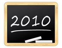 2010 written on a nice blackboard Royalty Free Stock Photo