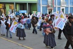 2010 wyborów miejscowego peruvian Fotografia Royalty Free