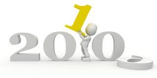 2010 year. 3d image isolated on white background Stock Illustration