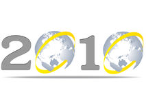 2010 year. Icon vector illustration royalty free illustration