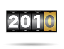 2010 year. 2010 new year counter in vector mode Royalty Free Illustration
