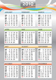 2010 year calendar Stock Photos