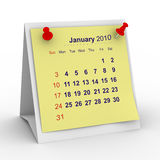 2010 year calendar. January Royalty Free Stock Images