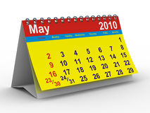 2010 year calendar. May. Isolated 3D image Royalty Free Stock Images