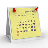 2010 year calendar. May. Isolated 3D image Stock Images