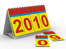 2010 year calendar on white backgroung. Isolated 3D image Royalty Free Stock Images